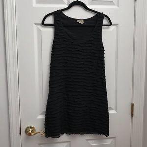 Free People Black Ruffle Dress